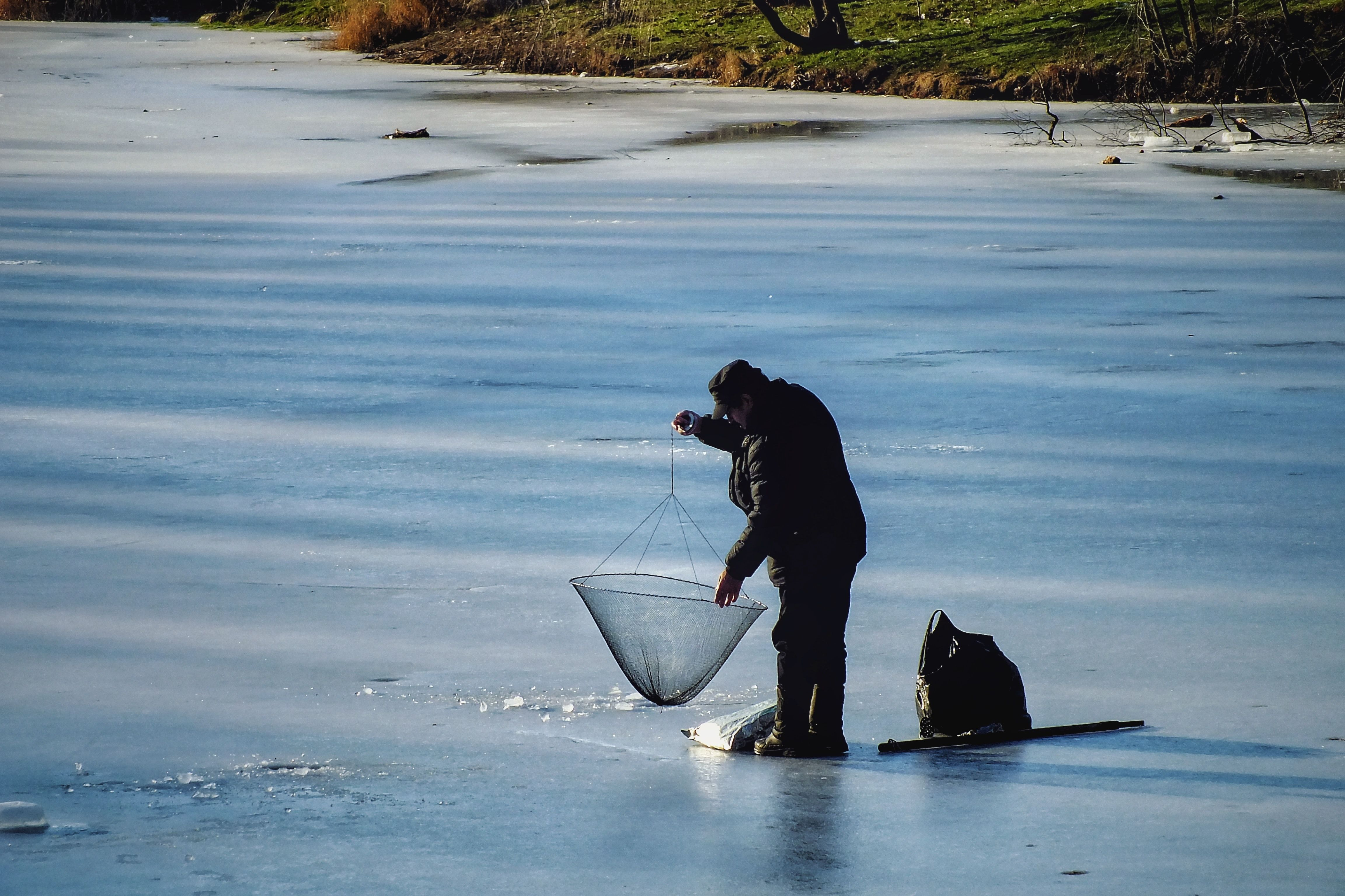 Ice Fishing On the Ice